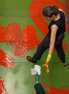 Fabienne Verdier Based on her study of traditional brush painting of the far east ....check her out...