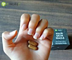 Show off your nails in all their natural glory with Hair Skin Nails ! Enhance your own natural collagen and keratin production & support healthy cell growth with just two tablets daily ✨! #Nutrition