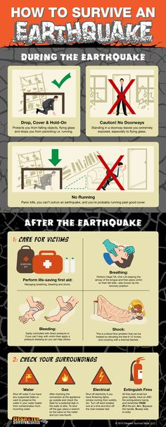I've prepared a downloadable info-graphic on how to survive  an earthquake, you can print this so everyone in the family are  aware of what do when there's an earthquake. Click the image to find out more life-saving skills today