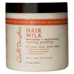"Another pinner says, ""I always recommend this product for my curly hair girls! Helathy and shiny hair starts with Carols Daughter® Hair Milk Nourishing and Conditioning Styling Pudding - 8 oz"""