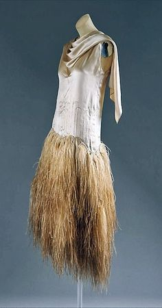 1928 dress by Louise Boulanger, French: silk and feathers, via The Metropolitan Museum of Art.