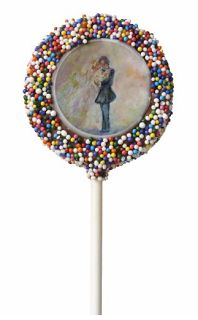 Wedding Edibles - Cake Pops Stunning art designed gourmet edibles for your wedding reception with your personalized custom message! Made with all natural, quality ingredients, these wedding edibles provide a sweet and special touch to gifting and events.