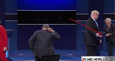 What was Hillary hiding behind her podium?