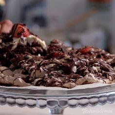 Chocolate And Strawberry Pavlova recipe