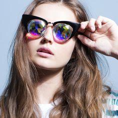 h0les Black Cat Eye Sunglasses