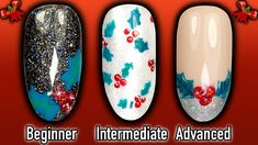 HOW TO PAINT HOLLY NAILS | EASY DIY BEGINNER - EXPERT CHRISTMAS NAIL ART  Christmas is round the corner so I thought that I'd bring you a new special Christmas series of Tash's Christmas Quickies, designed for beginner, intermediate and advanced nail techs and DIY-ers wanting some quick and easy nail art design ideas, for use with nail polish, acrylic or gel polish.  This weekend in this Christmas nails series, I'm going to show you how to easily paint holly nails which would look perfect