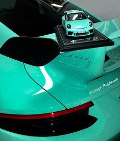 "Stephen Corzani on Instagram: ""1/18 Porsche 991.2 GT3 just delivered. Mint Green. #wedowhatyouwant #stephreplicars #nolimitmodelcars #pts #ptsrs #painttosample #mintgreen"""