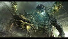 King Ghidorah vs Godzilla Art Warner Bros. Officially Announces Godzilla vs. Kong For 2020