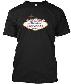 Las Vegas Nevada T Shirt Black T-Shirt Front