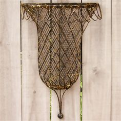 Buy Tulip Wall-Mounted Rust Wire Basket online with free shipping from thegardengates.com