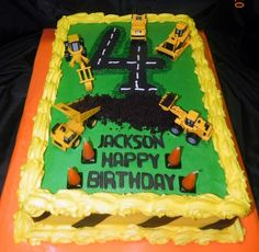 Construction themed birthday cake!
