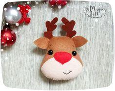 Adornos navideños fieltro adornos fieltro Navidad de Rudolph