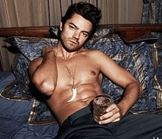 Dominic Cooper workin that drink.... LIKE A BOSS