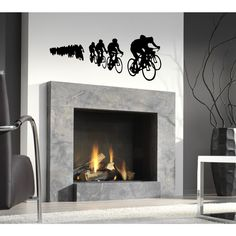 Race bikes Wall Art Sticker Decal - Free Shipping On Orders Over $45 - Overstock.com - 18782018 - Mobile