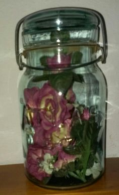 Gift from friend, I filled with roses!!!