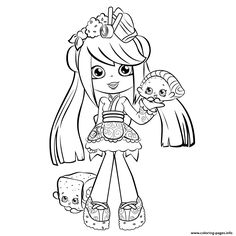 Cute Shopkins Shoppies Season 5 Coloring Pages Printable And Book To Print For Free Find More Online Kids Adults Of