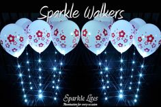 Pretty Floral Balloon Sparkle Walkers.
