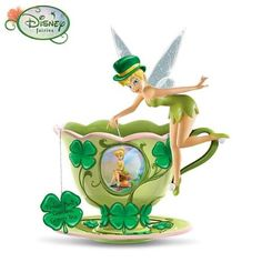 "Amazon.com: Disney ""Tinker Bell's Garden Green Tea"" Figurine by The Bradford Exchange: Furniture & Decor"