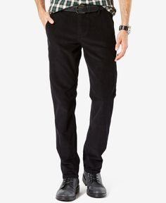 Dockers Men's Alpha Khaki Flat-Front Slim-Fit Corduroy Pants