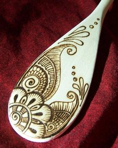 Mendhi on a spoon!