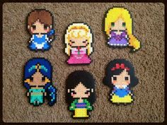 Disney Princesses Perler Bead