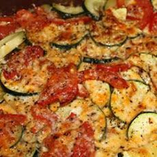 Tomato Zucchini Casserole Recipe~ Except I used Saltines instead of the breadcrumbs~ *DLP