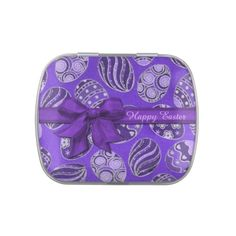 Shop Decorative Purple Ribbon Easter Eggs Candy Tin created by BlueRose_Design. Easter Egg Candy, Easter Cookies, Easter Eggs, Brew Pub, Purple Ribbon, Jelly Belly, How To Make Beer, Brushed Metal