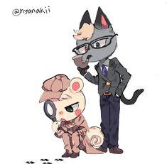 Animal Crossing Fan Art, Animal Crossing Villagers, Animal Crossing Memes, Nintendo, Realistic Drawings, Cute Stickers, Funny Cute, Cute Art, Anime
