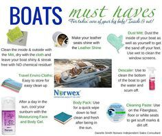Is it time to get the boats out of storage. Norwex will make cleaning them, inside and out, quick and easy. Here are some must haves to keep on board. Boat Cleaning, Norwex Cleaning, Green Cleaning, Cleaning Hacks, Spring Cleaning, Norwex Biz, Norwex Products, Cleaning Products, Norwex Consultant