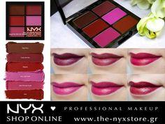 """Με τις νέες παλέτες NYX Pro Lip Cream μπορείτε να έχετε έξι διαφορετικά κραγιόν για να φορέσετε ξεχωριστά ή να τα αναμείξετε δημιουργώντας την δική σας ιδανική απόχρωση! Βρείτε την παλέτα """"Vamps"""" της φωτογραφίας καθώς και τις υπόλοιπες αποχρώσεις στο e-shop μας: http://bit.ly/1WKDskC"""