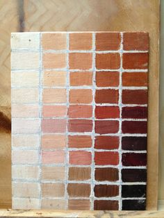 Skin tone color chart possibilities and instructions.