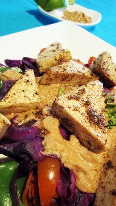 Tofu with Thai Coconut Peanut Sauce