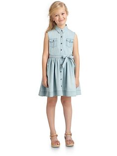 DKNY - Girl's Stretch Lace and Ruffle Dress | DKNY Girls ...