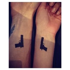 Did Lucy Watson and Oliver Proudlock really get matching tattoos? ❤ liked on Polyvore featuring tattoos and tattoos and piercings