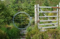 Unusual gate, Achnashellach for backpackers to get through Deer Fence, Paths, Outdoor Structures, Stiles, Stones, Permaculture