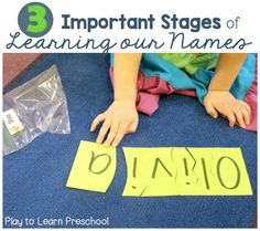 Stages of Learning Names in Preschool