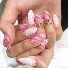 天然石❤️#jillandlovers #shibuya #nails #ネイル #nailart #paragel @nakajima_jun