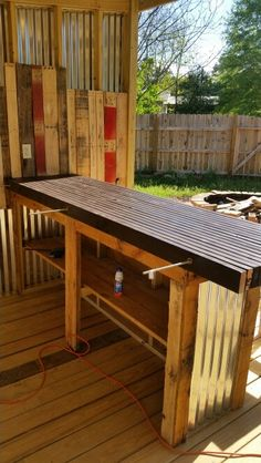 Another View Of The Bar Top Pallet BarDiy