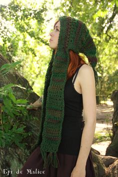 MADE TO ORDER Spirit hood from the forest green and by EpiDeMalice