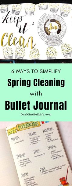 6 Spring Cleaning Bullet Journal Ideas That Will Make Things Easier – Spring cl… - Peregrine.