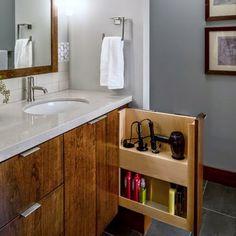 Ideas para guardar el secador y la plancha | Decorar tu casa es facilisimo.com