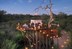 Lion Sands' Chalkley Tree House, Kruger National Park, South Africa.