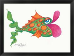 Flamboyant Fish I at FramedArt.com