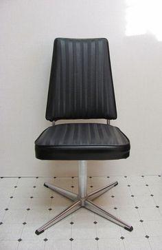 Vintage  / Virtue Brothers / Swivel Chair / Black by DaveysVintage, $75.00