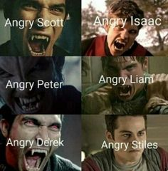 Angry faces