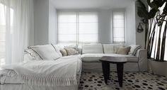 White living area, Safari style, Scandinavian, Nordic,  Penthouse