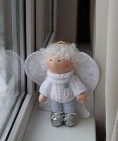 Купить Ангелочки Аркашка и Аллочка - текстильная кукла, интерьерная кукла, ангелочек, кукла ручной работы