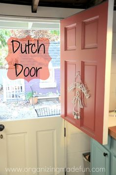 Making a dutch door out of a regular door! Cute for the shed!