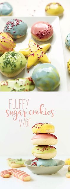1 Bowl FLUFFY Vegan Gluten Free Sugar Cookies! Perfect for the holidays and beyond!