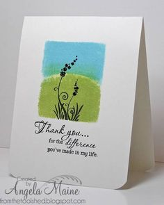 CAS Thank you for... by Arizona Maine - Cards and Paper Crafts at Splitcoaststampers